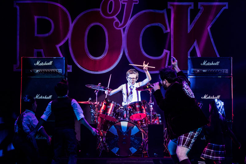 Cameron Trueblood in School of Rock Tour.