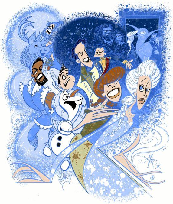 """Broadway Ink - Frozen - 03/2018 - Justin """"Squigs"""" Robertson"""